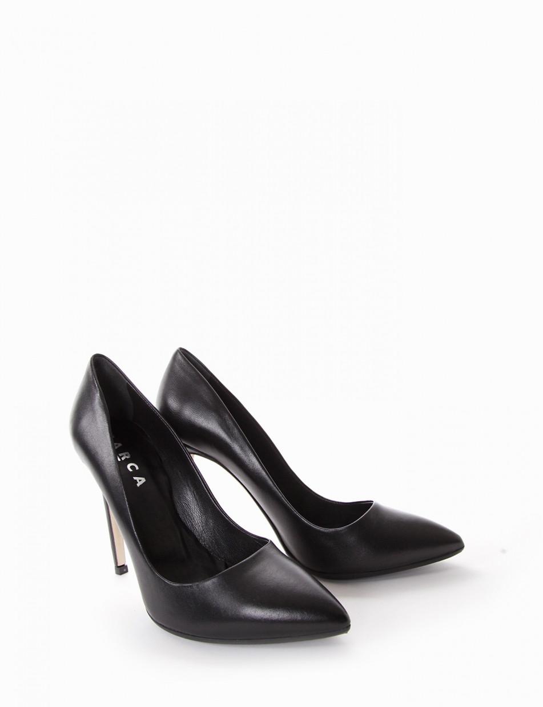 Pumps heel 0 cm black leather