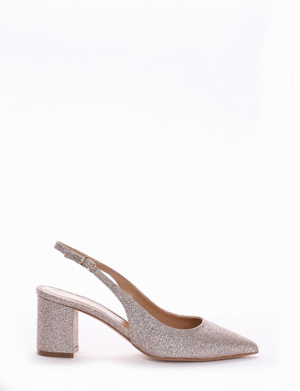 Pumps heel 7cm copper glitter