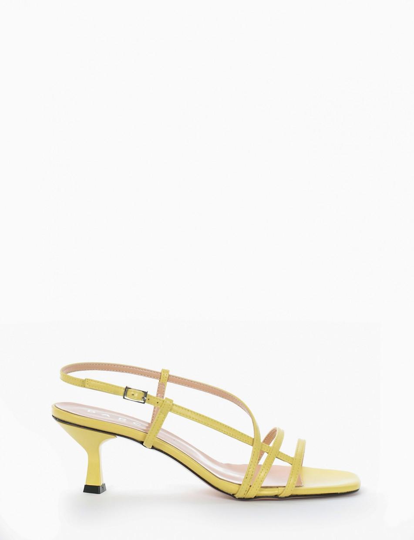 Sandalo tacco 5 cm giallo