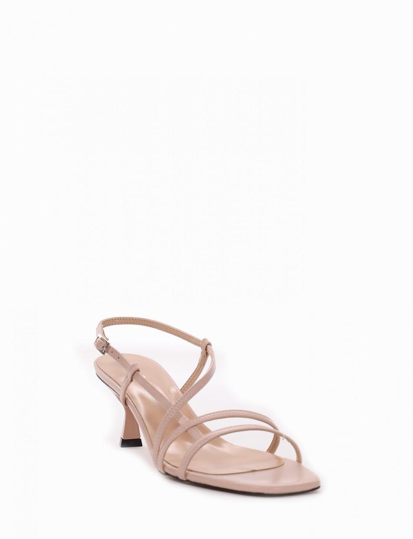 Sandalo tacco 5 cm rosa