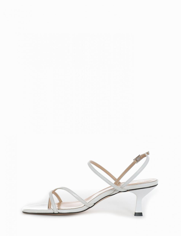 Sandalo tacco 5 cm bianco