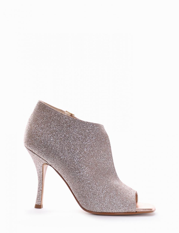 sandalo tacco 10 cm platino