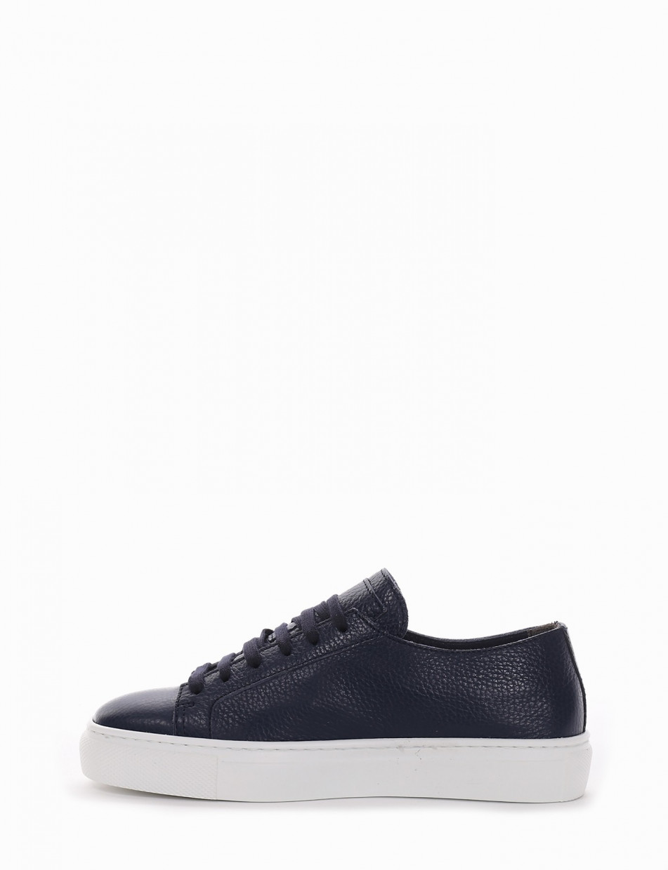 Sneakers blu leather