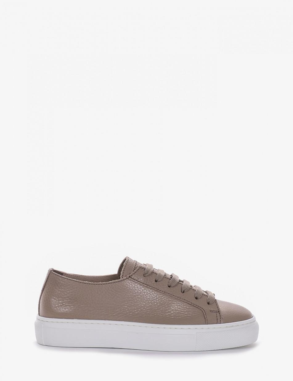 Sneakers tortora leather