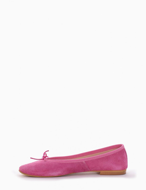 Ballerina tacco 1 cm fuxia
