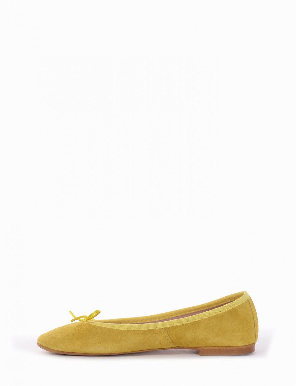 Ballerina tacco 1 cm giallo