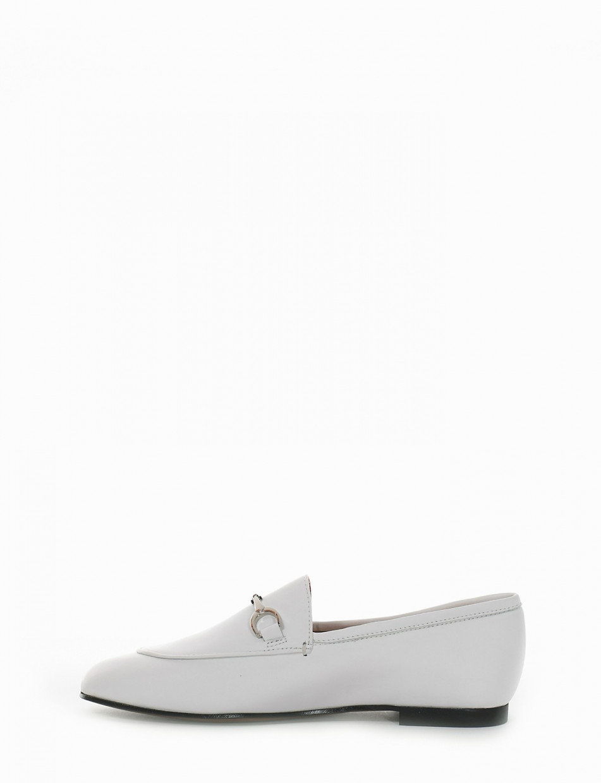 Mocassino tacco 1cm bianco
