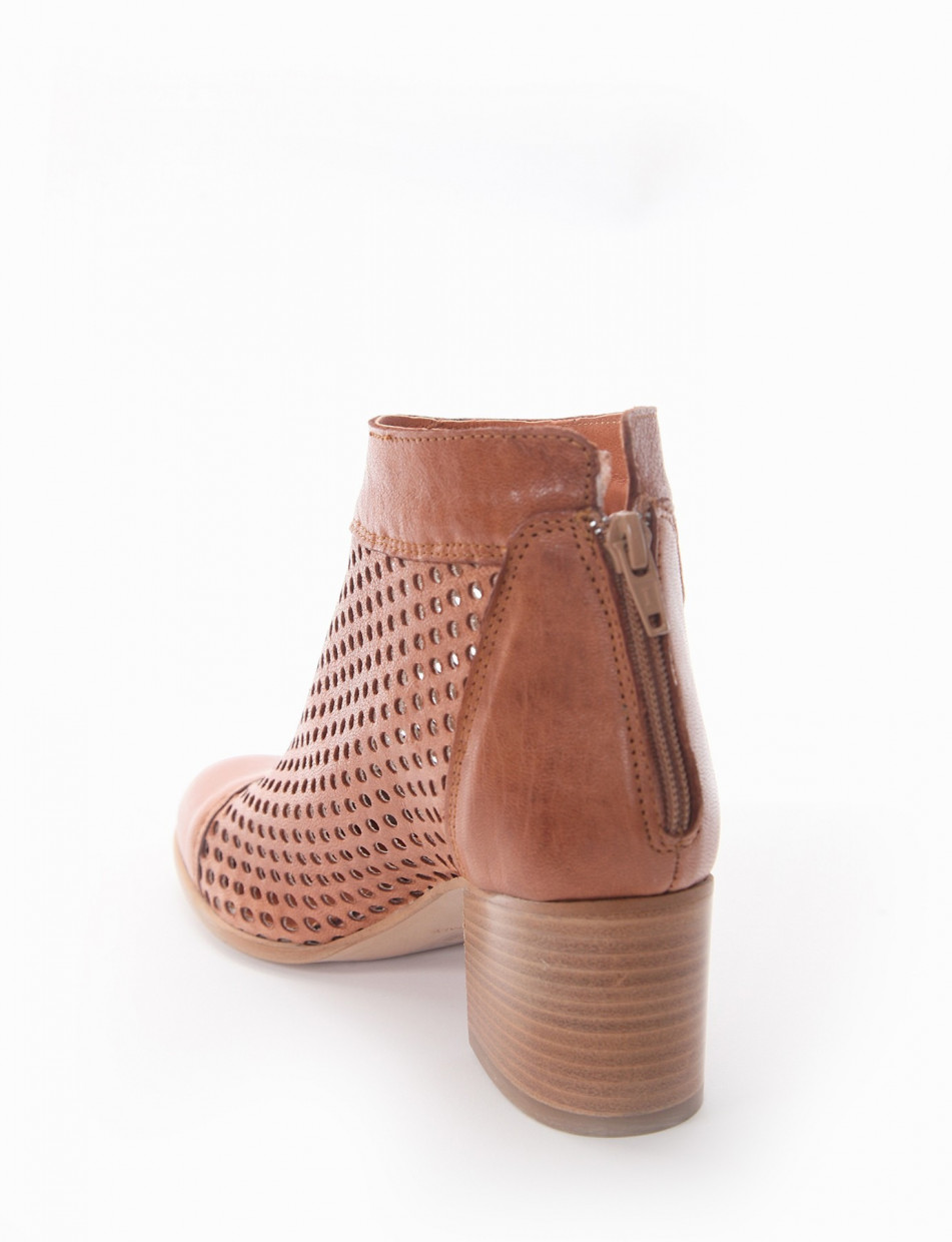 Low heel ankle boots heel 5 cm leather