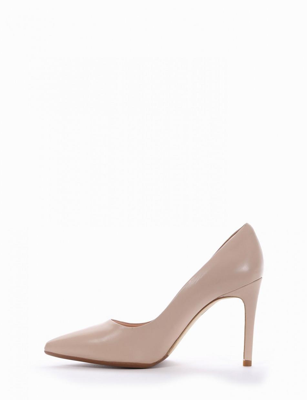 Pumps heel 9 cm pink leather