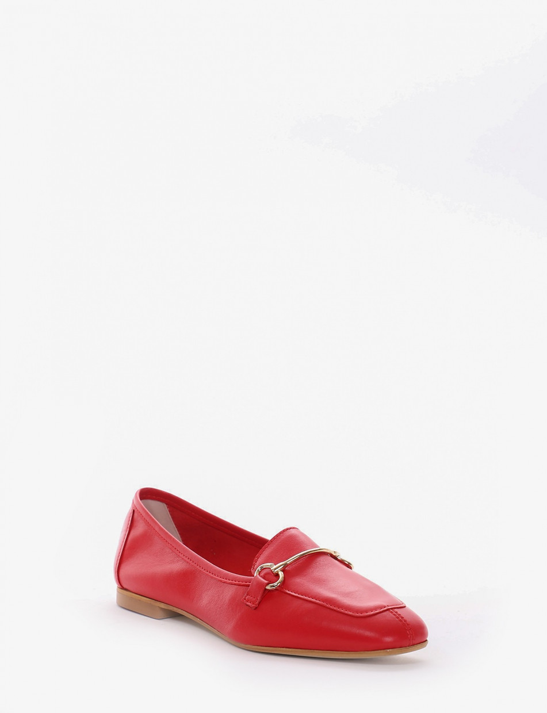 Mocassino tacco 1cm rosso