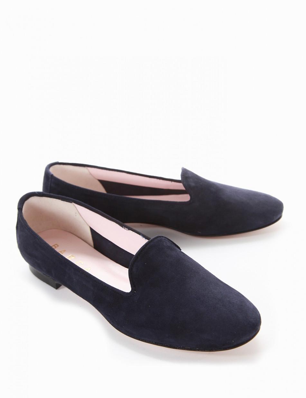 Ballerina tacco 1cm blu