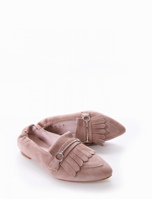 Loafers heel 1 cm beige chamois