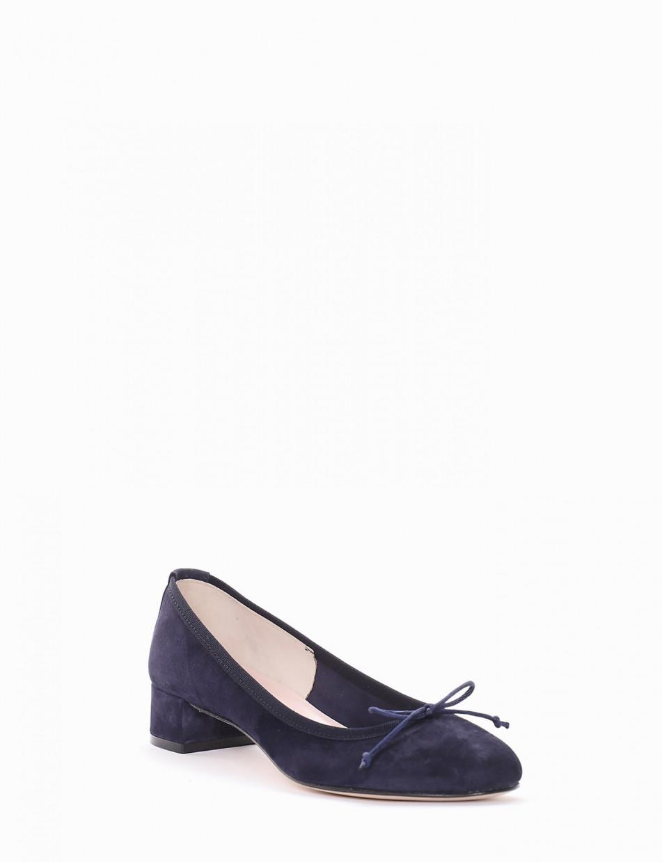 Ballerina tacco 4 cm blu