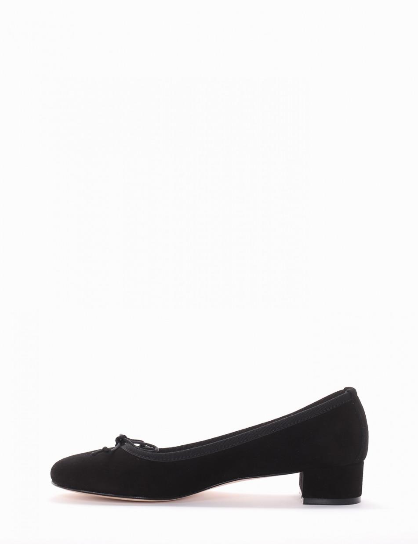Ballerina tacco 4 cm nero
