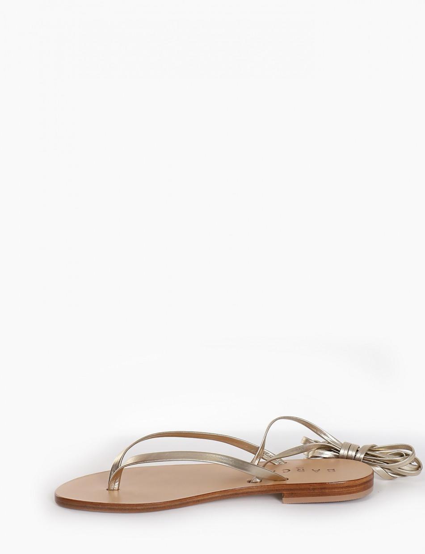 Sandalo infradito tacco 1 cm platino
