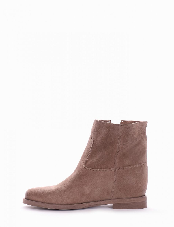 Low heel ankle boots heel 1 cm tortora chamois