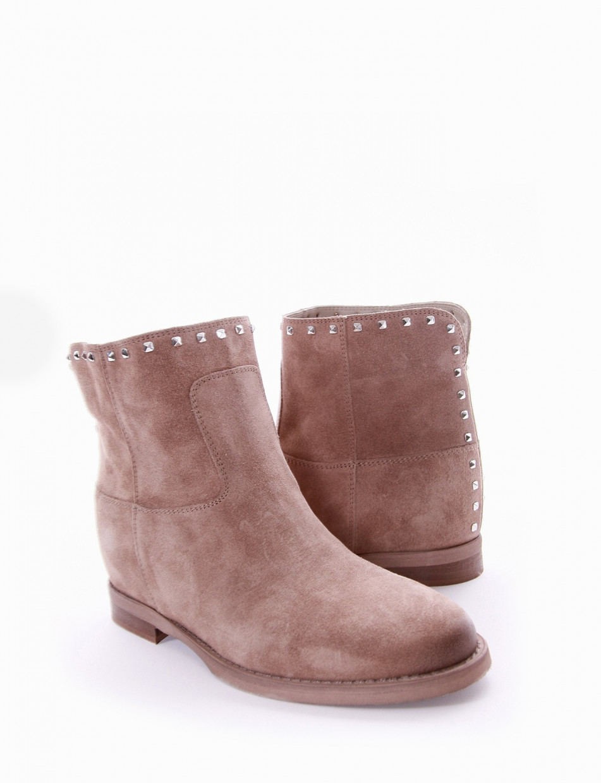 Low heel ankle boots heel 2 cm tortora chamois