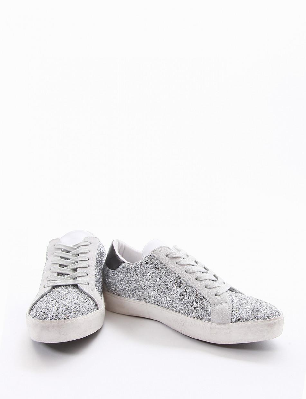 Sneakers silver glitter