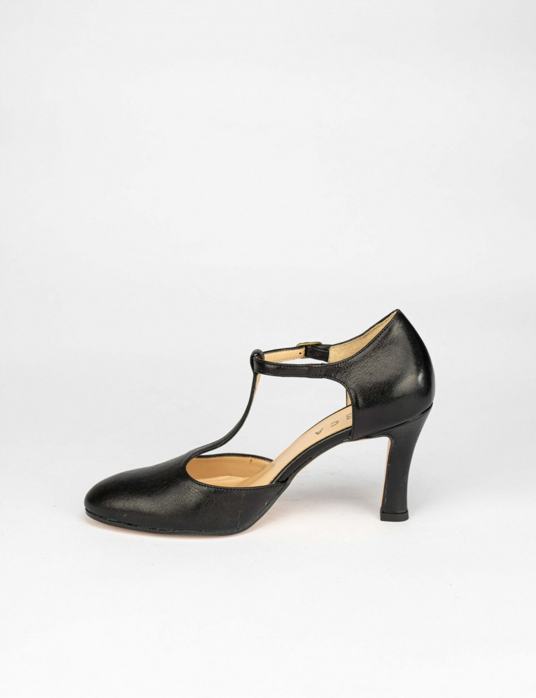 Pumps heel 8 cm black leather