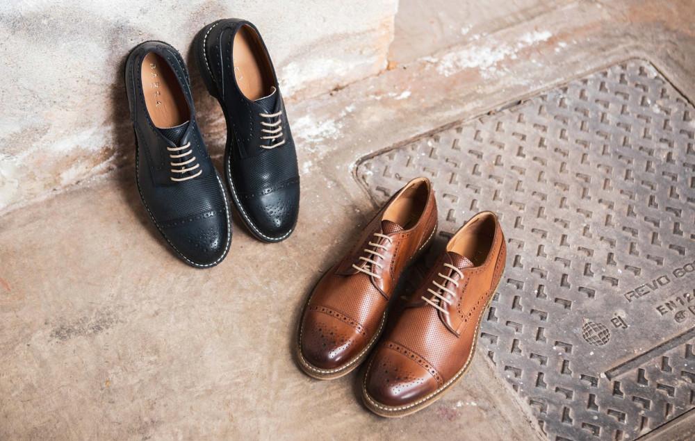 scarpa lacci tacco 2 cm cuoio