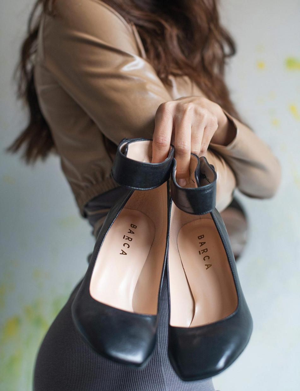 Pumps heel 9 cm black leather