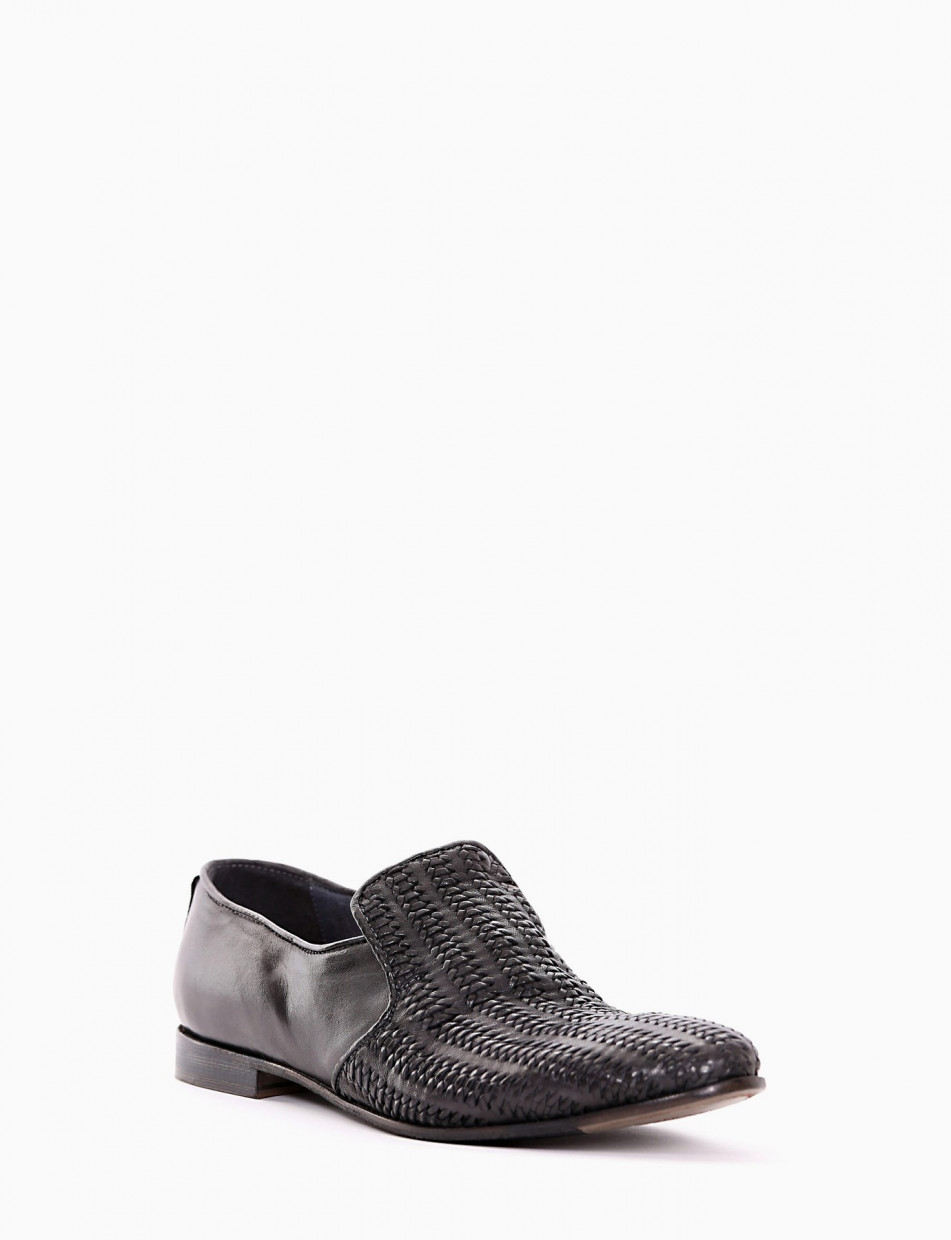 Loafers heel 2 cm grey leather