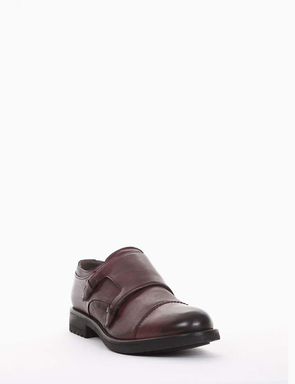 Lace-up shoes heel 2 cm bordeaux leather