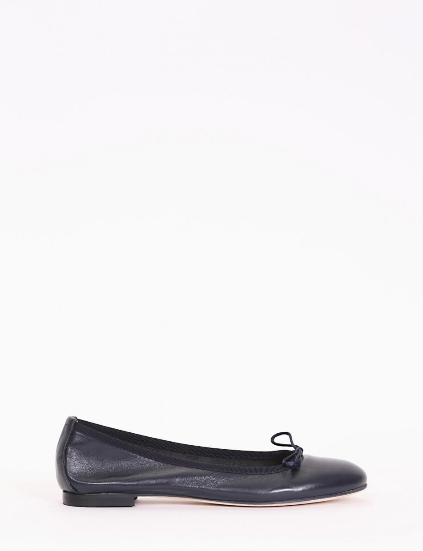Flat shoes blu leather