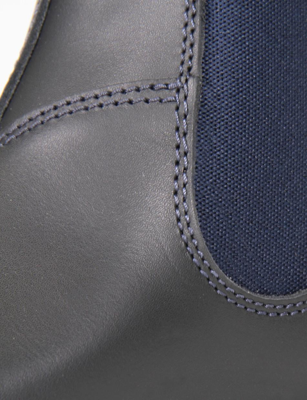 Polacchino con fondo gomma flessibile e soletto in vera pelle blu