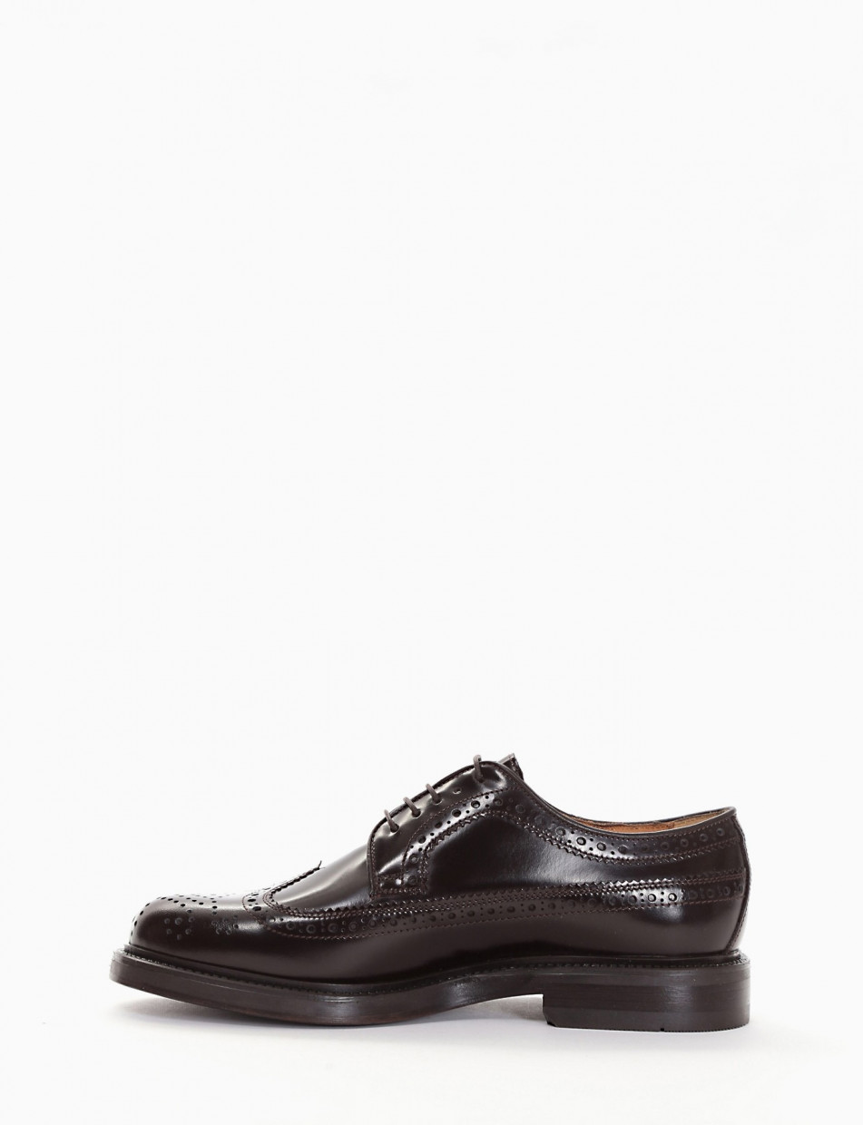 Lace-up shoes dark brown leather