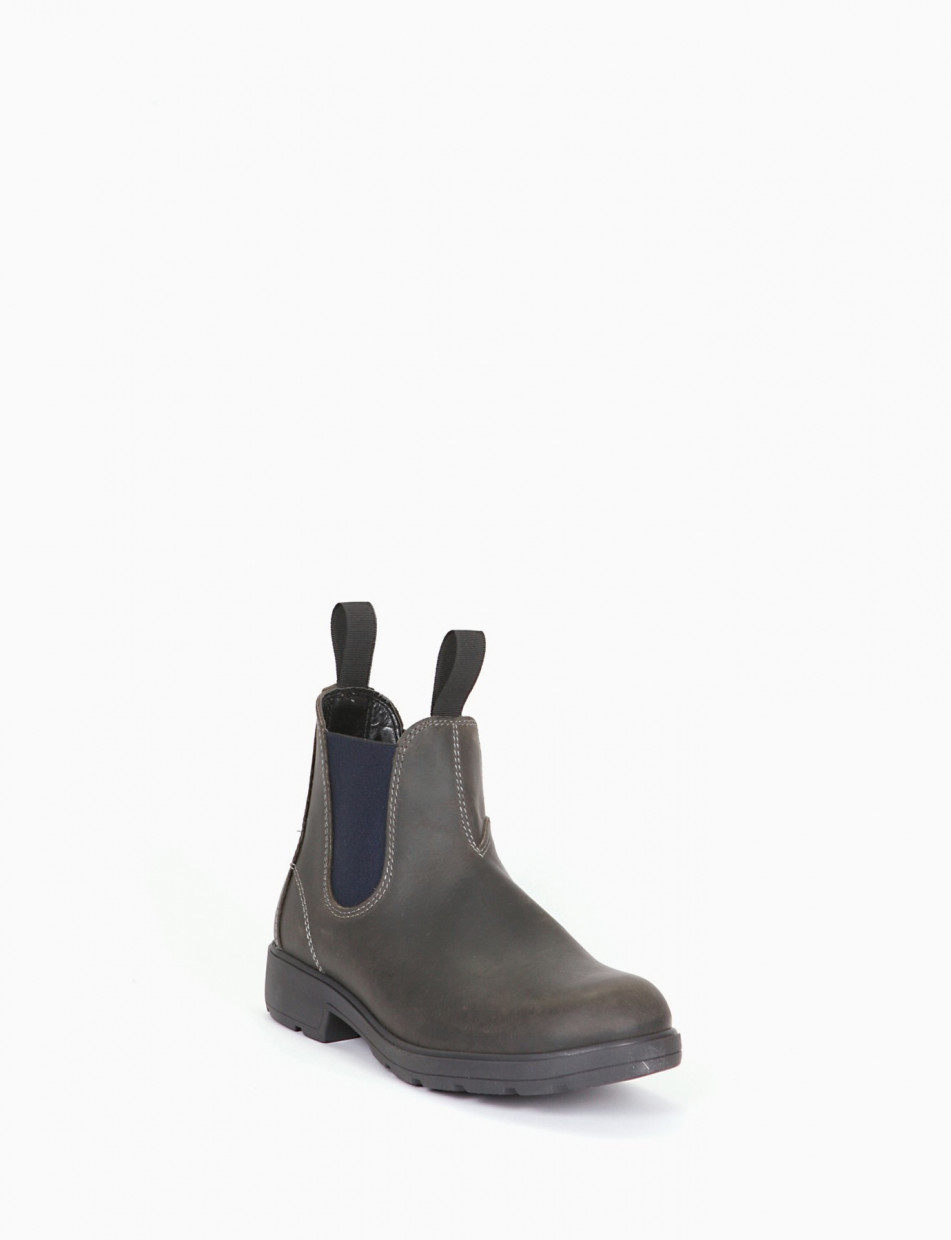 Ankle boots blu leather