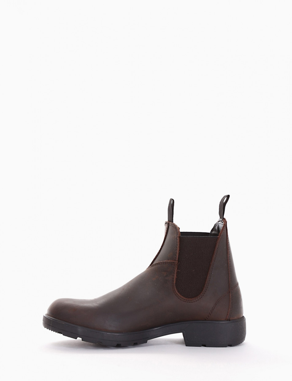 Ankle boots dark brown leather