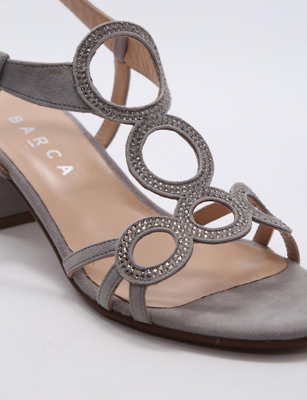 Sandalo tacco 50 grigio