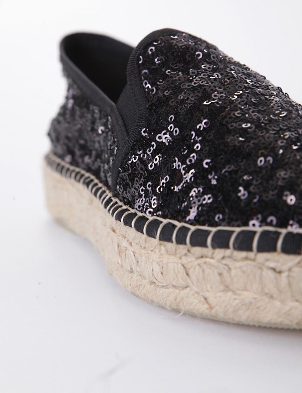 Espadrillas black paillettes