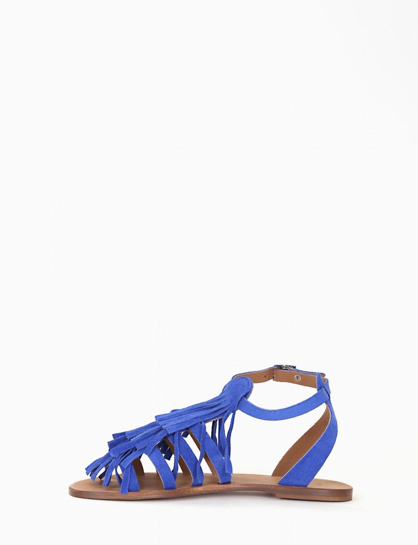 Low heel sandals bluette chamois