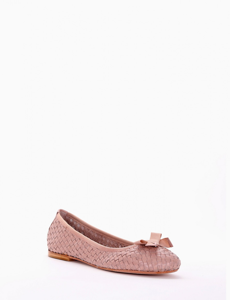 Flat shoes pink leather