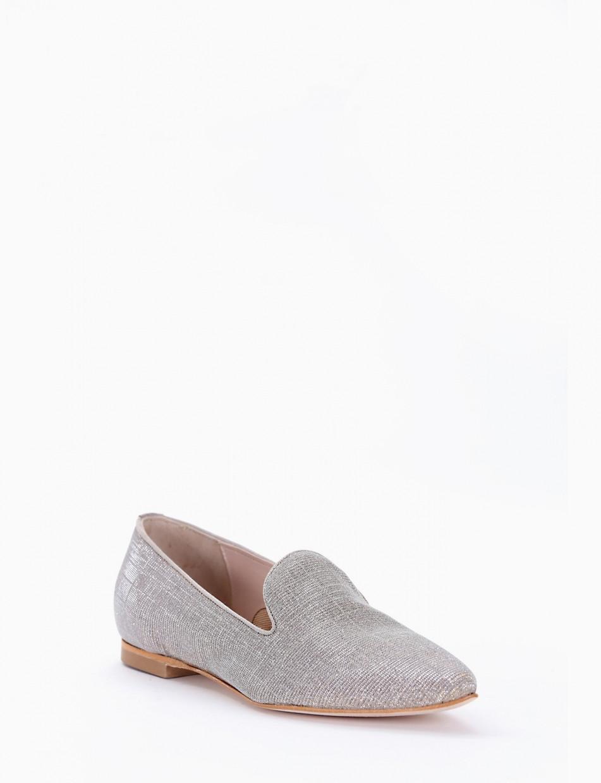 Flat shoes beige canvas