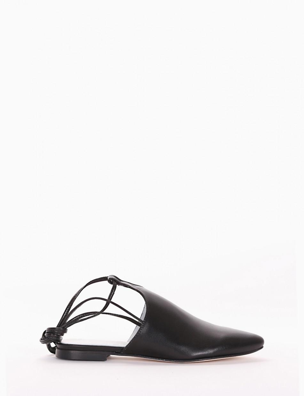 Sabot black leather