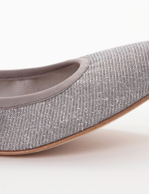 Flat shoes grey canvas