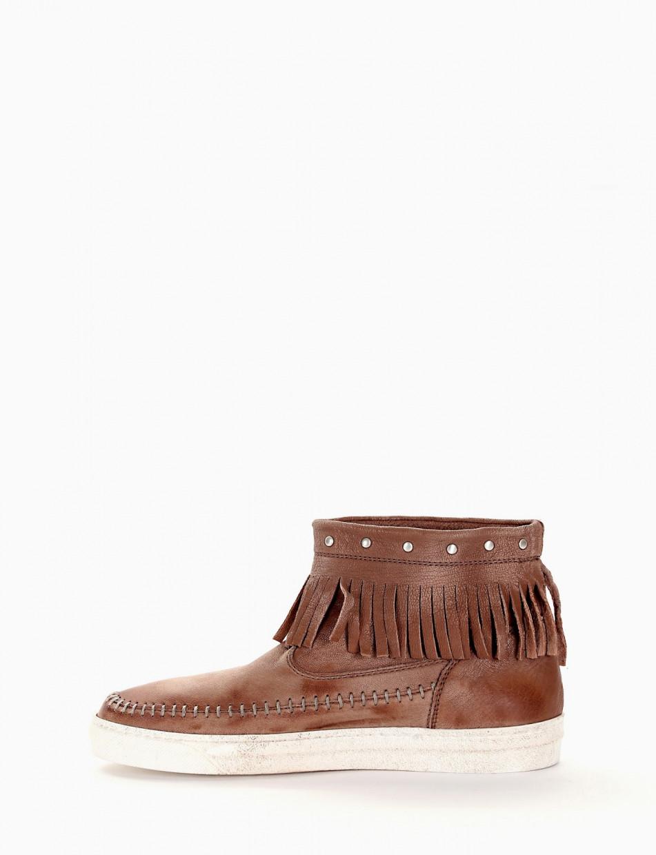 Stivaletto indianino / sneaker alta tortora