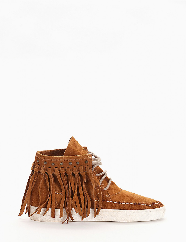 Stivaletto texano / sneaker alta cuoio