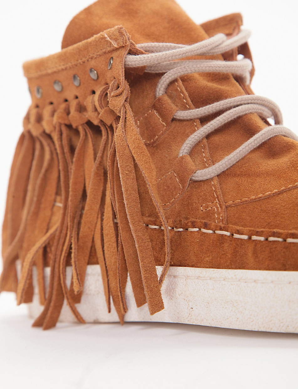 Sneakers leather chamois