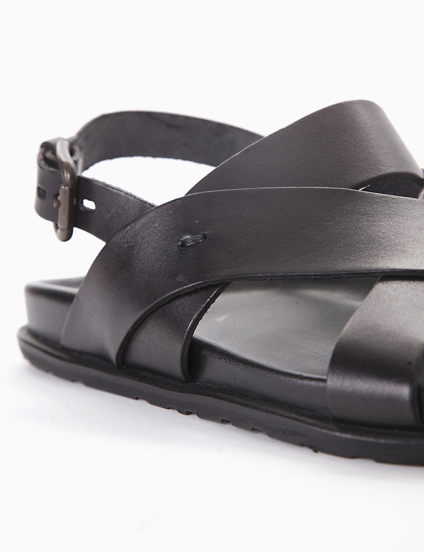 Sandalo zeppa 20 nero