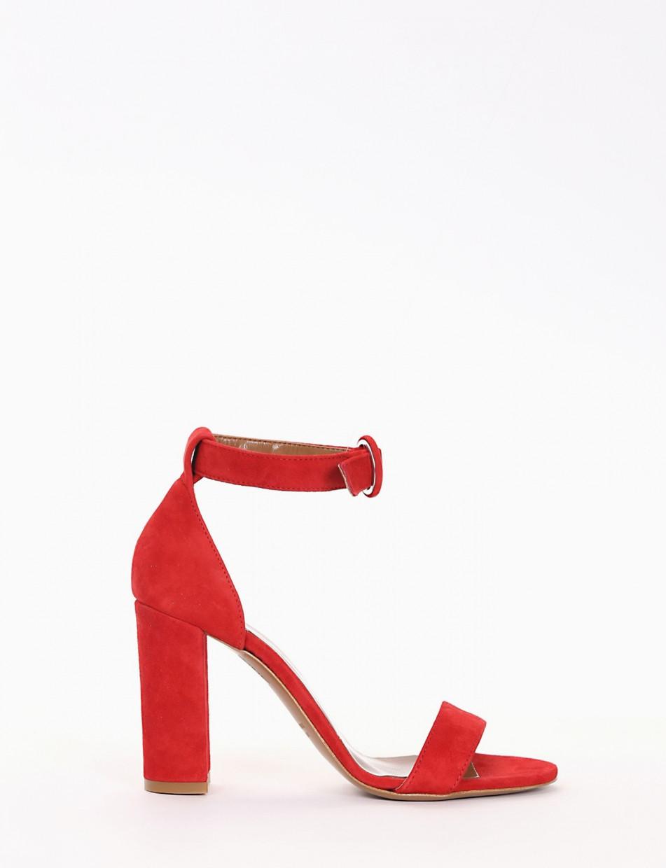 sandalo tacco 9 cm rosso