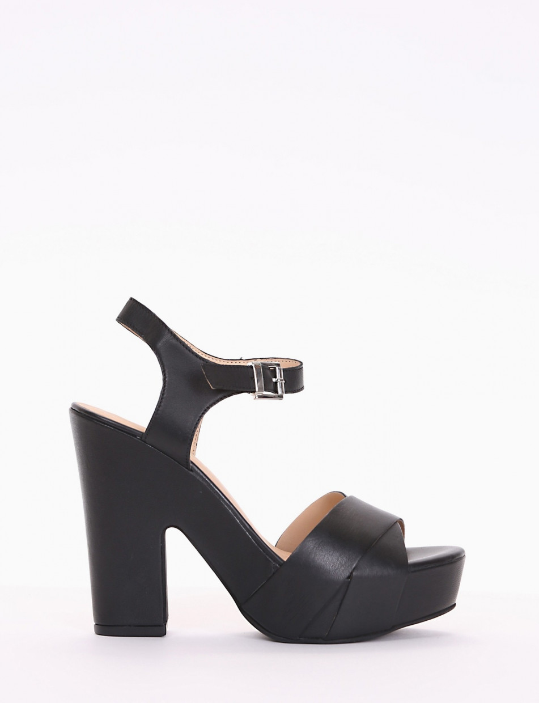 sandalo tacco 12 cm nero