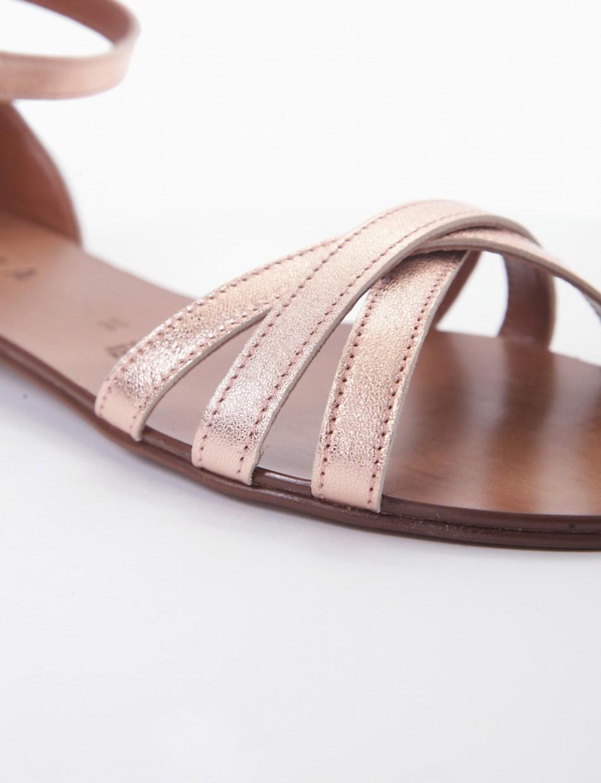 sandalo tacco 1 cm rame