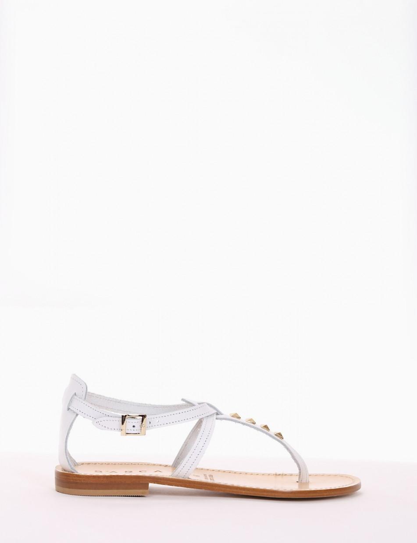 sandalo infradito tacco 1 cm bianco