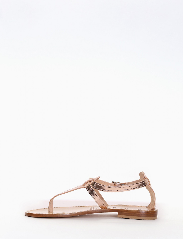Flip flops heel 1 cm copper laminated