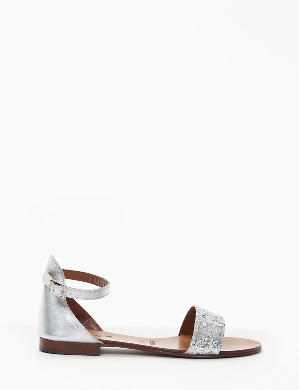 sandalo tacco 1 cm argento