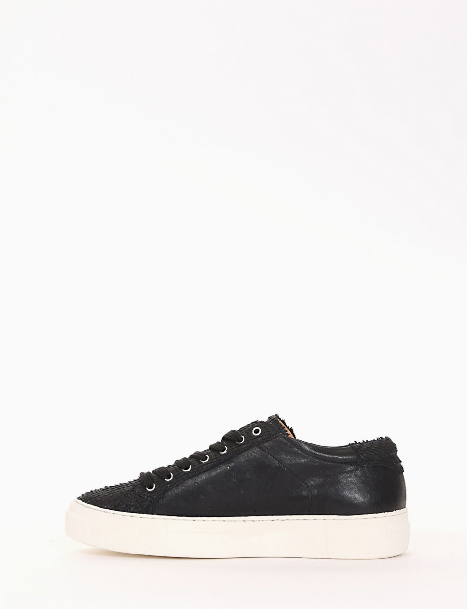 Sneakers heel 0 cm black leather